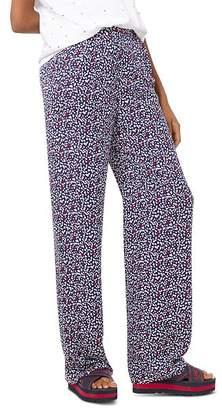 MICHAEL Michael Kors Heart-Print Silk-Georgette Pajama Pants
