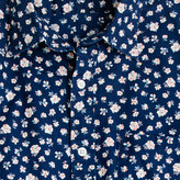 J.Crew Indigo Short-sleeve shirt in floral reverse print