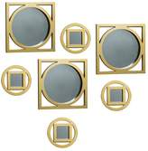 Element 7-piece Circle Square Wall Mirror Set