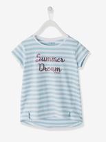 Vertbaudet Girls T-Shirt with Message Motif