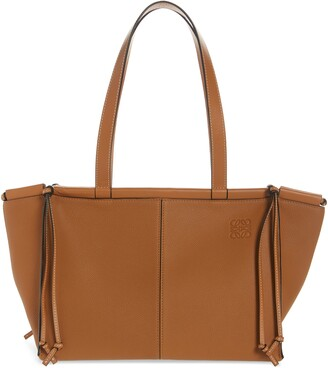Loewe Small Cushion Leather Convertible Gusset Tote