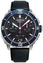 Alpina Al-372lbg4v6 Seastrong Diver 300 Stainless Steel Rubber Strap Watch, Blue/black
