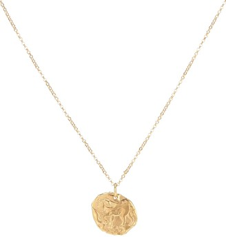 Alighieri Year Of The Horse 24kt gold-plated necklace
