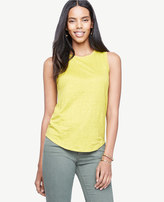 Ann Taylor Sleeveless Linen Sunday Tee