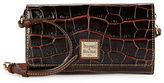 Dooney & Bourke Crocodile-Embossed Leather Crossbody