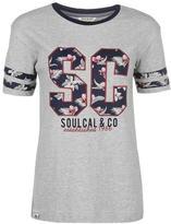 Soul Cal SoulCal Floral Applique T Shirt Ladies