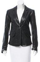 Rachel Zoe Notch-Lapel Leather Blazer w/ Tags