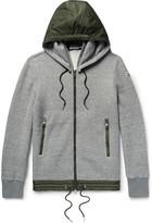 Moncler - Slim-fit Nylon-trimmed Cotton-blend Jersey Zip-up Sweatshirt