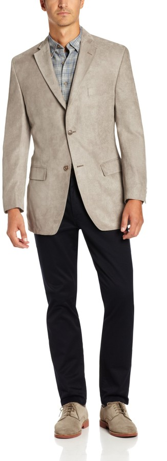 Haggar Mens Glen Plaid Tailored Fit Center Vent Sport Coat Blazers or Sports Jacket