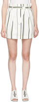 3.1 Phillip Lim Off-White Striped Paper Bag Miniskirt