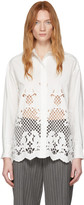 See by Chloe White Poplin Floral Embroidery Shirt
