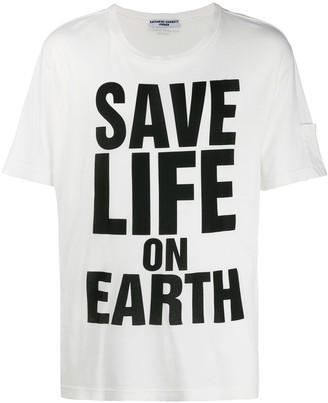 Katharine Hamnett printed 'save life on earth' T-shirt