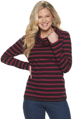 Croft & Barrow Women's Cowlneck French Terry Top