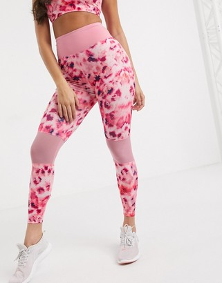 Wolfwhistle Wolf & Whistle Curve Eco leggings in pink petal print