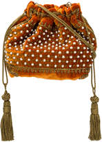 Etro bead embellished drawstring bag