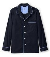 Classic Men's Tall Fit Broadcloth Pajama Shirt Navy