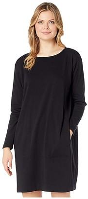 Eileen Fisher Organic Cotton Stretch Jersey Round Neck Dress