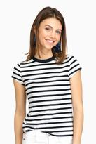 Demy Lee Patti Striped Pia Short Sleeve Top