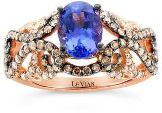 LeVian Le Vian 14K Strawberry Gold 1.68 Ct. Tw. Diamond & Tanzanite Ring