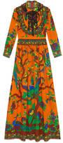 Gucci Jubilee print silk gown