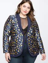 ELOQUII Floral Brocade Jacket
