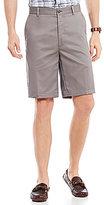 Roundtree & Yorke TravelSmart Side Elastic-Waist Flat-Front Shorts