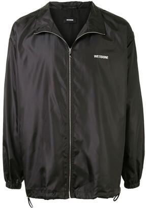 we11done Logo Print Zipped Jacket