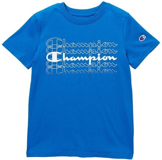 Champion Stacked Script Short Sleeve Tee