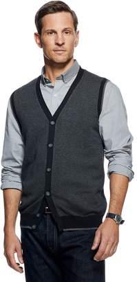 Van Heusen Men's Flex Button Front Sweater Vest