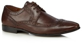 Red Herring Brown Leather Pointed Toe Brogues