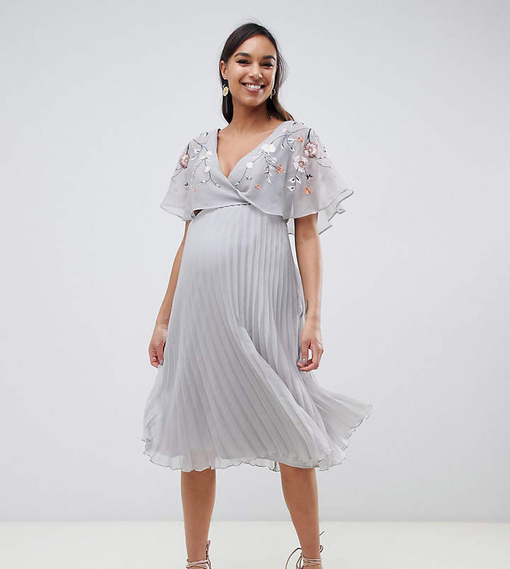 0b4ffb560395 Embroidery Maternity Dress - ShopStyle