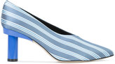 Tibi striped pointed toe pumps