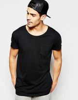Selected Oversized Scoop Neck T-Shirt
