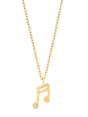 Cosanuova Music Note In 14k Yellow Gold