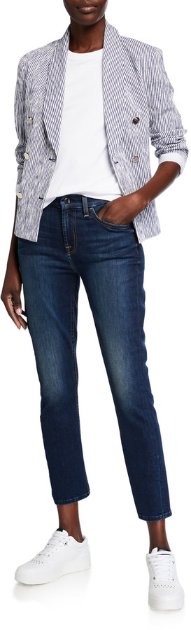 Thumbnail for your product : Jen7 Ankle Straight Mid-Rise Jeans