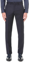 Armani Collezioni Modern-fit crosshatch wool trousers