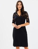 Wallis Lace Top Fit & Flare Dress