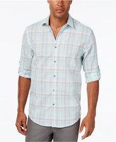 Alfani Men's Big & Tall Classic-Fit Plaid Long-Sleeve Shirt, Only at Macy's