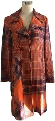 Kenzo Orange Wool Coats
