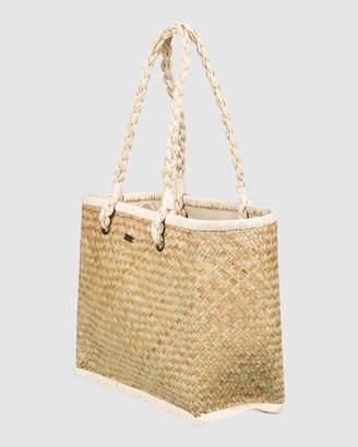 Roxy Emma Loves It Straw Beach Bag