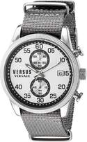 Versus By Versace Men's 'SHOREDITCH' Quartz Stainless Steel and Canvas Casual Watch, Color:Grey (Model: S66070016)