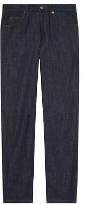 Gucci Regular fit washed denim trousers