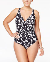 Anne Cole Plus Size Vines Underwire One-Piece Swimsuit
