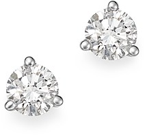 Bloomingdale's Diamond Stud Earrings in 14K White Gold 3-Prong Martini Setting, 0.60 ct. t.w. - 100% Exclusive