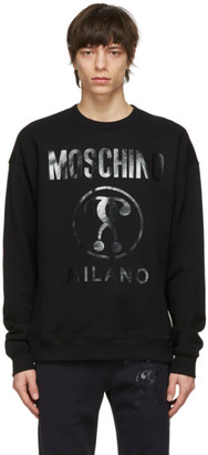 Moschino Black Double Question Mark Sweatshirt