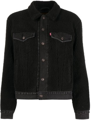 Levi's Faux Shearling Cropped Jacket