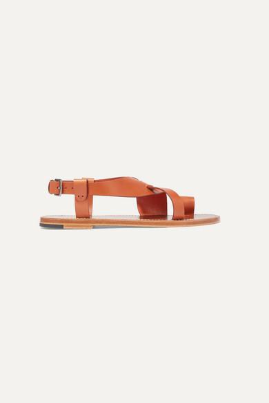 Bottega Veneta Woven Leather Sandals - Tan