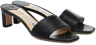 Jimmy Choo x KAIA K-Slide embossed leather sandals