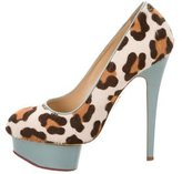 Charlotte Olympia Leopard Print Dolly Pumps