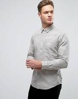 Esprit Oxford Shirt in Slim Fit with Button Down Collar and All Over Ditsy Print